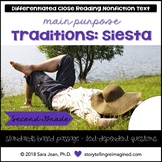 Traditions: The Siesta Reading Comprehension Passage & Questions Nonfiction Text