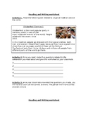 Traditions of the world (questionaire in pairs)