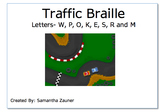 Traffic Braille File Folder Game