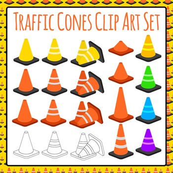 Traffic Cones - Construction Theme - Great for Sorting Commercial Use Ok
