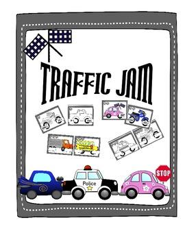 Traffic Jam short vowel word family game