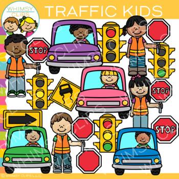 Kids Traffic Clip Art {Transportation Clip Art}