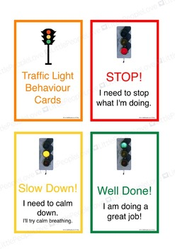 Traffic Light Behaviour Cards (First Person)
