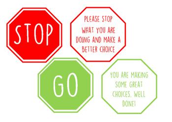 Traffic Light Behaviour Management Cards