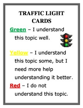 Traffic Light Cards