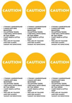 Traffic Light Cards