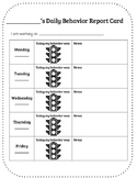 Traffic Light - Daily Behavior Report Card