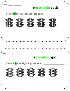 Traffic Light - Daily Behavior Report Card Pack