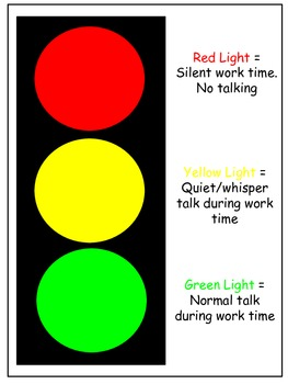 Traffic Light Display - Classroom and Noise Management