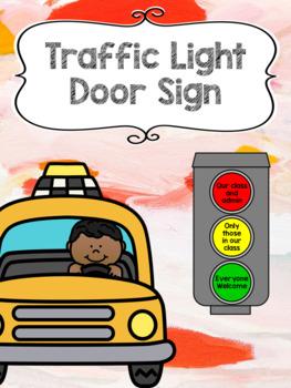 Traffic Light Door Sign