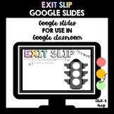 Traffic Light Exit Slip (Google Slides - Distance Learning)