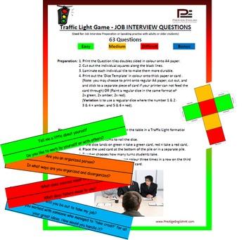 Traffic Light Game - JOB INTERVIEW PREPARATION