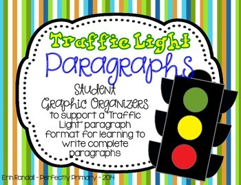 Traffic Light Paragraph Graphic Organizers FREEBIE