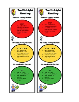 Traffic Light Reading -Strategy Bookmarks for Informational Texts