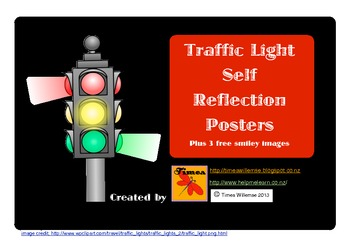 Traffic Light Reflection Posters and Smileys
