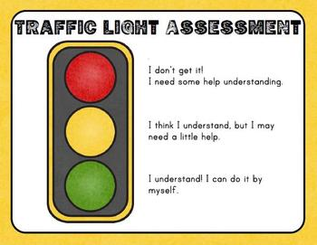 Traffic Light Self-Assessment Poster