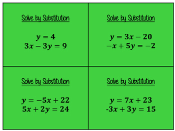 Traffic Light Solving Systems of Equations Stations
