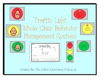 Traffic Light Whole Class Behavior Management System