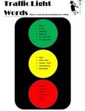 """Traffic Light"" transition words poster"