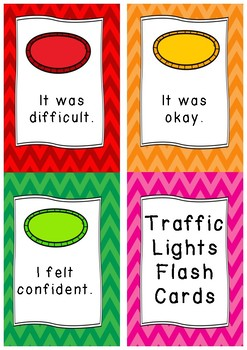 Traffic Lights Flash Cards - Chevron