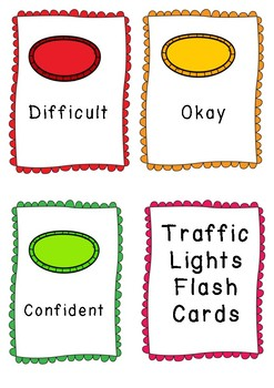 Traffic Lights Flash Cards - Looped Frame