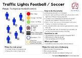 Traffic Lights Football / Soccer PE Game