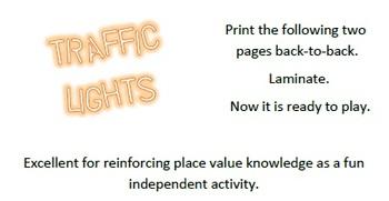 Traffic Lights - Place Value Activity
