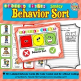 Traffic Lights Smiley Behavior Sorting Cards and Mat