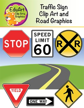 Traffic Sign Clip Art and Road Graphics