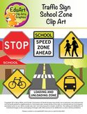 Traffic Sign for School Zone Clip Art and Graphics