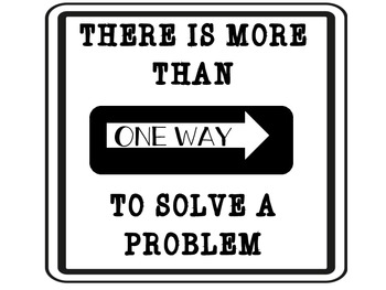 Traffic Theme- More than ONE WAY to solve a problem