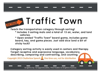 "Traffic Town: Teaching the ""Transportation"" category through sorting activities"