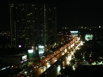 Traffic of time lapse In Bangkok