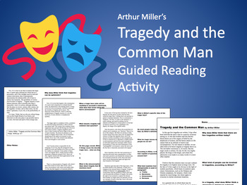 Tragedy and the Common Man: Guided Informational Reading (MS Word)