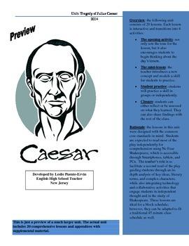 Tragedy of Julius Caesar Unit