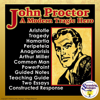 The Crucible Tragic Hero John Proctor By Secondary Strategies  Tpt The Crucible Tragic Hero John Proctor Custom Writings Services also Essay On My Family In English  Barack Obama Essay Paper