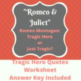 Tragic Hero Romeo and Juliet Worksheet