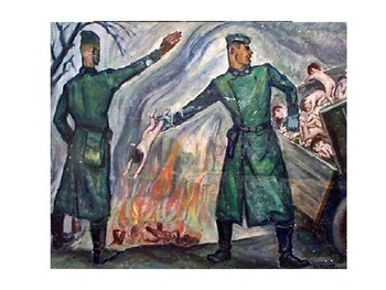 Tragic Holocaust Story and Paintings