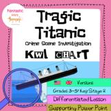 Tragic Titanic Unit: KWL Chart: Lesson Plan and worksheets