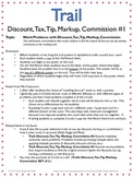Trail: Discount, Tax, Tip, Markup, Commission #1