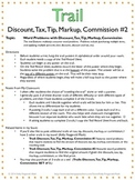 Trail: Discount, Tax, Tip, Markup, Commission #2