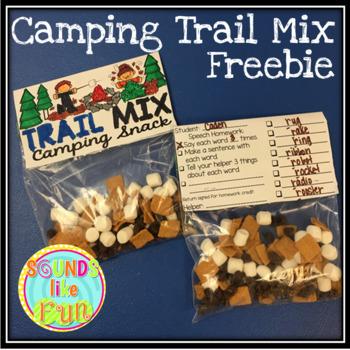 Trail Mix Camping Bag Tag Freebie