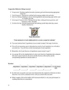 Trail Mix Fractions: A Cooperative Learning Task