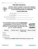Trail Mix Fractions Activity Sheet | Improper Fractions &