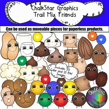 Trail Mix Friends Clip Art- Chalkstar Graphics