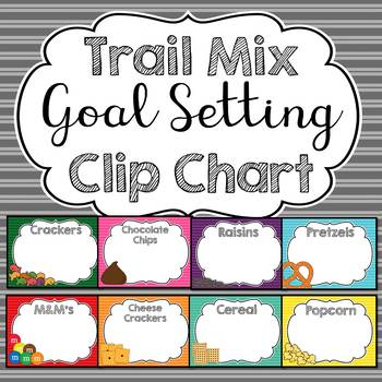 Trail Mix Goal Monitoring Clip Chart