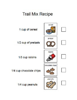 Trail Mix Picture Recipe