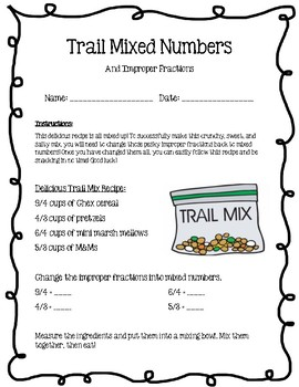 Trail Mixed Numbers and Improper Fractions