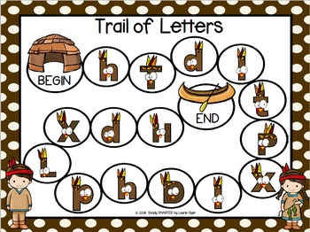Trail of Letters:  NO PREP American Indian Letter Identification Board Game