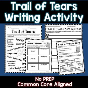 Trail of Tears Writing Activity